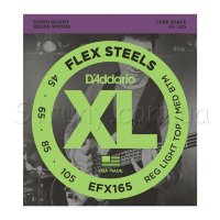 D'Addario EFX165 Flex Steels Custom Light Long Scale 45/105
