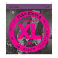 D'Addario EFX170 Flex Steels Light Long Scale 45/100