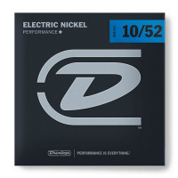 Dunlop DEN1052 Light Top/Heavy Bottom Nickel Plated Steel Electric Guitar Strings 10/52