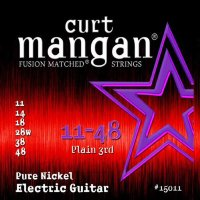 Curt Mangan 15011 Pure Nickel Electric Guitar Strings 11/48
