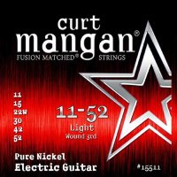 Curt Mangan 15511 Light Pure Nickel Electric Guitar Strings 11/52