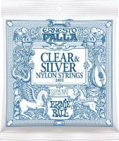 Ernie Ball 2403 Ernesto Palla Nylon Clear & Silver Classical Guitar Strings