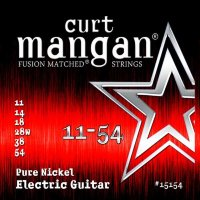 Curt Mangan 15154 Pure Nickel Electric Guitar Strings 11/54