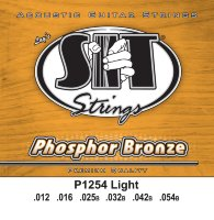 SIT P1254 Light Phosphor Bronze Acoustic Guitar Strings 12/54