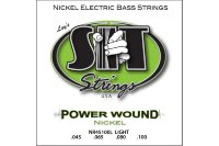 SIT NR45100L Power Wound Nickel Light Electric Bass Strings 45/100
