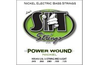 SIT NR545125L Power Wound Nickel Custom Medium Light Electric Bass Strings 45/125