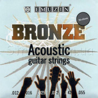 Emuzin 6РВ 12-55 Phosphor Bronze Acoustic Guitar Strings 12/55