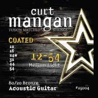 Curt Mangan 25004 Extra Light 80/20 Bronze Coated Acoustic Guitar Strings 12/54