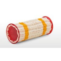 NATAL DRUMS GANZA LARGE YELLOW BAND RED ENDS Шейкер