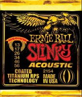 Ernie Ball 2154 Coated Medium Slinky Acoustic Guitar Strings 13/56