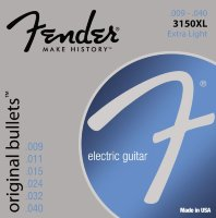 Fender 3150XL Original Bullets Pure Nickel Extra Light Electric Guitar Strings 9/40