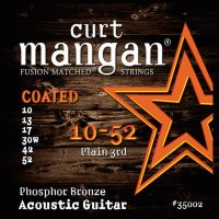 Curt Mangan 35002 Extra Light PhosPhor Bronze Coated Acoustic Guitar Strings 10/52