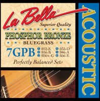 La Bella 7GPB Phosphor Bronze Acoustic Guitar Bluegrass 12/56