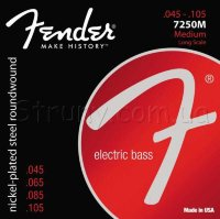 Fender 7250M Nickelplated Steel Roundwound Medium Bass Strings 45/105