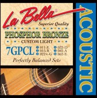 La Bella 7GPCL Phosphor Bronze Acoustic Guitar Custom Light 11/52