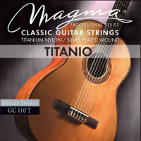 Magma Titanio GC110T Titanio Nylon / Silver Plated Wound  Medium Tension