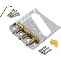 Fender Bridge Assembly For American Vintage Hot Rod Telecaster With Compensated Brass Saddles Nickel Бридж