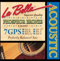 La Bella 7GPS Phosphor Bronze Acoustic Guitar Light 12/52