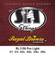 SIT RL1150 Pro Light Phosphor Bronze Acoustic Guitar Strings 11/50