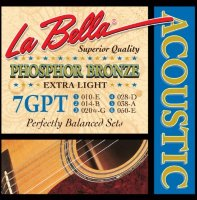 La Bella 7GPT Phosphor Bronze Acoustic Guitar Extra Light 10/50