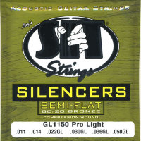 SIT GL1150 Silencer Pro Light 80/20 Bronze Acoustic Guitar Strings 11/50