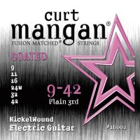 Curt Mangan 16002 Nickel Wound Coated Electric Guitar Strings 9/42