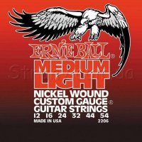 Ernie Ball 2206 Medium Light Electric Nickel Wound 12/54