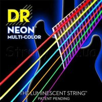 DR NMCE-10 Hi-Def Neon Multi-Color K3 Coated Medium Electric Guitar Strings 10/46