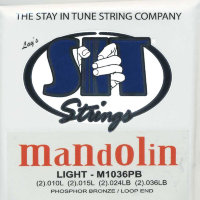 SIT M1036PB Mandolin Phosphor Bronze/Loop End Light Set 10/36