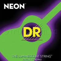 DR NGA-11 Hi-Def Neon Green K3 Coated Medium-Lite Acoustic Guitar Strings 11/50