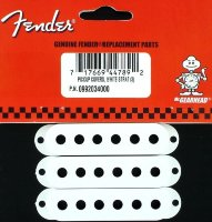 Fender Strat Pickup Covers Set of 3 White 0992034000
