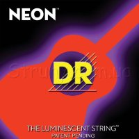 DR NOA-11 Hi-Def Neon Orange K3 Coated Medium-Lite Acoustic Guitar Strings 11/50