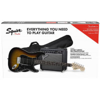 SQUIER by FENDER AFFINITY SERIES STRAT HSS PACK LR BS GIG BAG 15G набор