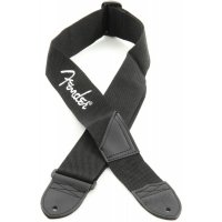 Fender STRAP 2 BLACK WHITE LOGO Ремень