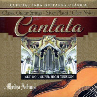 Medina Artigas Cantata 600 Clear Nylon / Silver Plated Wound Super High Tension