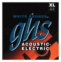 GHS WB-XL White Bronze Extra Light Acoustic Guitar Strings 11/48