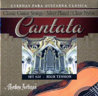 Medina Artigas Cantata 620 Clear Nylon / Silver Plated Wound High Tension