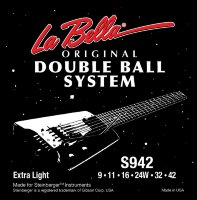 La Bella S942 Double Ball Steinberger Electric Guitar Strings 9/42