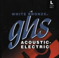 GHS WB-L White Bronze Standart Light Acoustic Guitar Strings 12/54