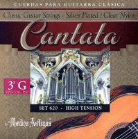 Medina Artigas Cantata 620-3PM Clear Nylon / Silver Plated Wound High Tension