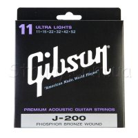 Gibson SAG-J200UL Phospher Bronze Acoustic Guitar Strings 11/52