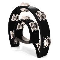 Maxtone 818 BK Dual Power Tambourine (Black) Тамбурин