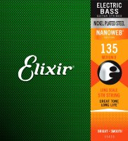 Elixir 15435 Nanoweb Coated Nickel Plated Steel Single Bass String Long Scale 135 Medium B