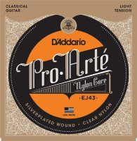 D'Addario EJ43 Classical Silverplated Wound Nylon Light Tension