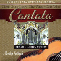 Medina Artigas Cantata 630 Clear Nylon / Silver Plated Wound Medium Tension