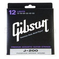 Gibson SAG-J200L Phospher Bronze Acoustic Guitar Strings 12/53