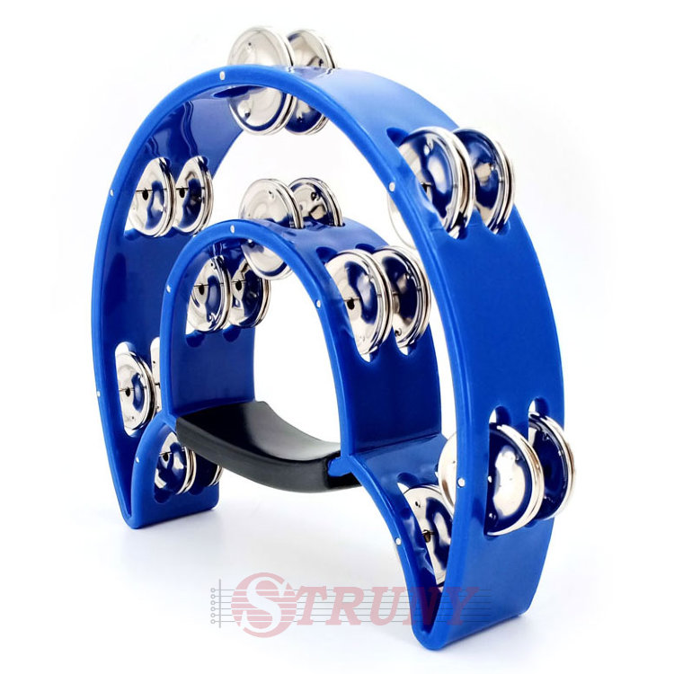 Maxtone 818 BL Dual Power Tambourine (Blue) Тамбурин