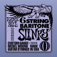 Ernie Ball 2839 6 String  Baritone Nickel Wound 13/72