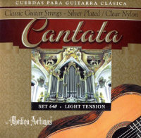 Medina Artigas Cantata 640-3PM Clear Nylon / Silver Plated Wound Light Tension