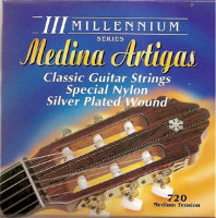 Medina Artigas Millenium 720B Special Nylon / Silver Plated Wound Medium Tension
